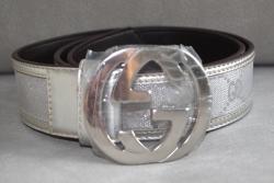 00293 Ремень Gucci серебристый