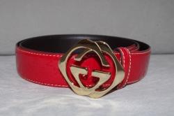 182320 Ремень Gucci красный