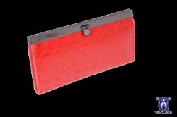0730010 Кошелек красный кожаный
