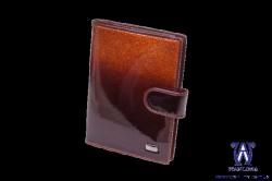 2580053 Обложка для документов коричневая кожаная