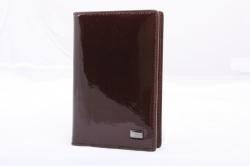 2580149 Обложка для паспорта коричневая кожаная