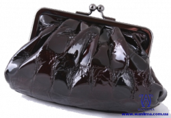 36324 Косметичка черная кожаная