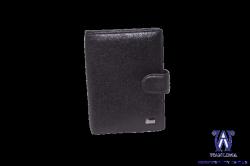 36144 Обложка для документов черная кожаная