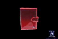 2580054 Обложка для автодокументов красная кожаная